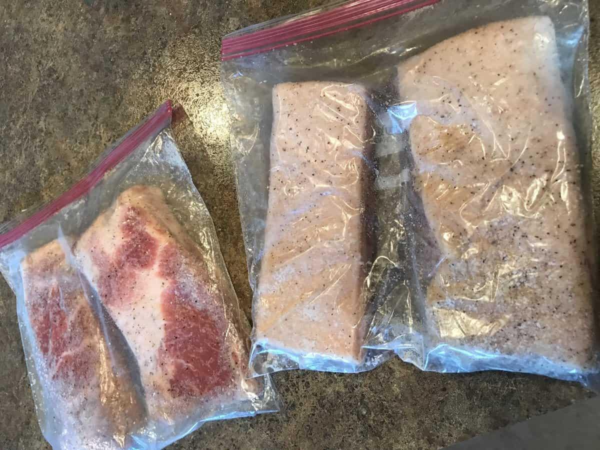 pork belly in ziplok | savorwithjennifer.com