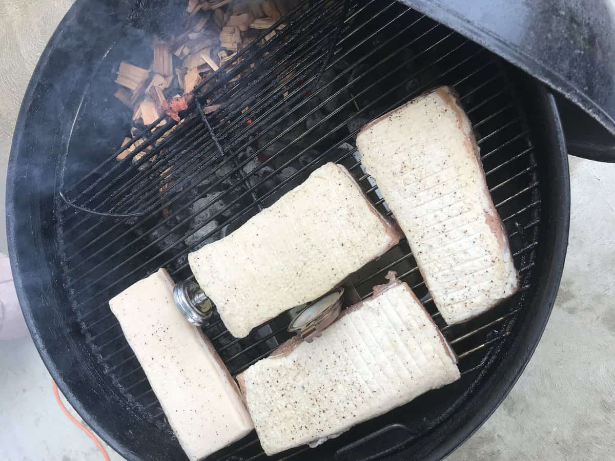 Pork Belly On Weber Grill | savorwithjennifer.com