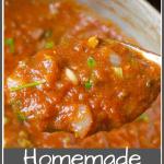 Homemade Red Sauce Pinterest Pin