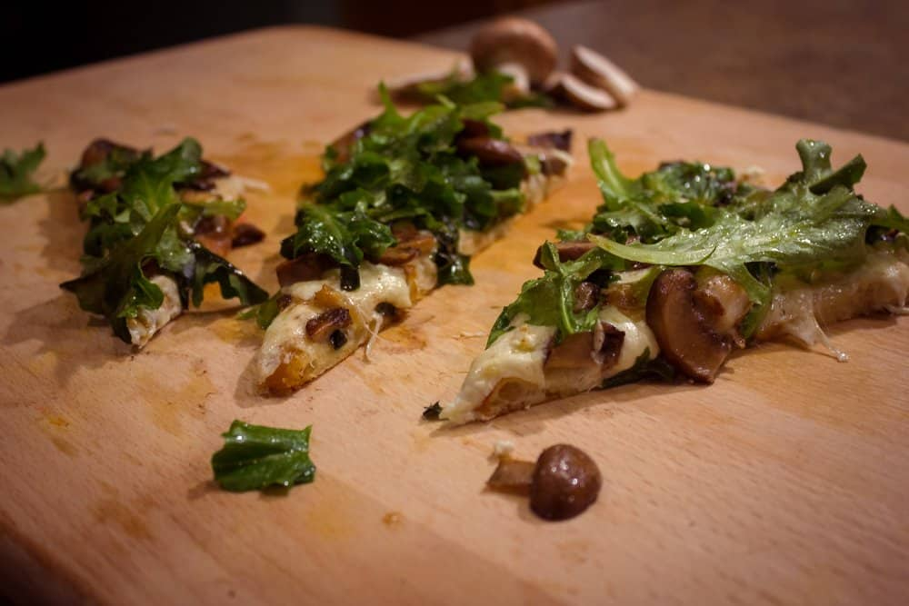 Truffled Goat Cheese & Arugula Pizza | SavorwithJennifer.com