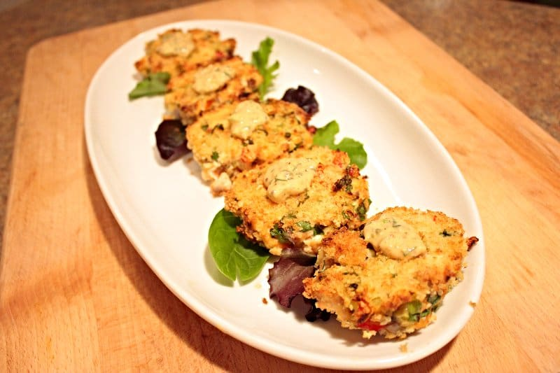 Baked FRESH Salmon Cakes (Salmon Patties) & Spicy Remoulade Sauce | SavorwithJennifer.com