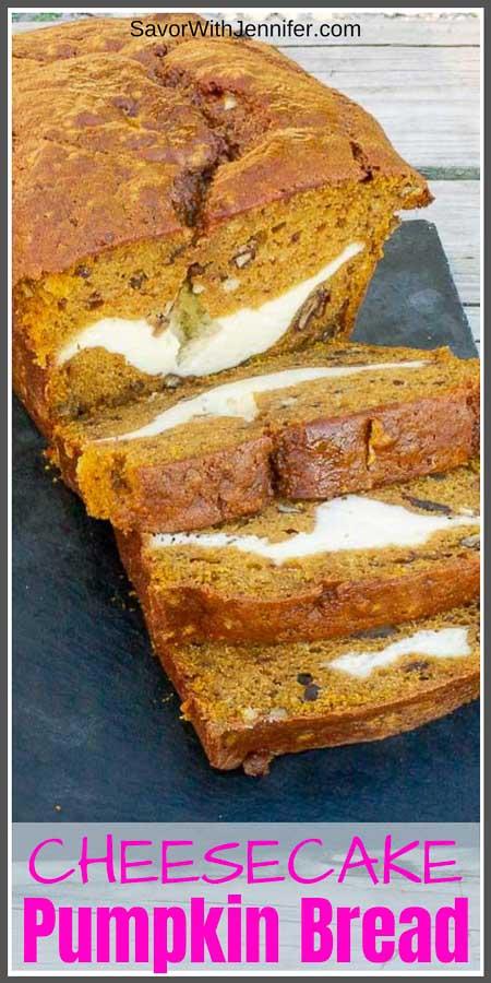 Cream Cheese Stuffed Pumpkin Bread