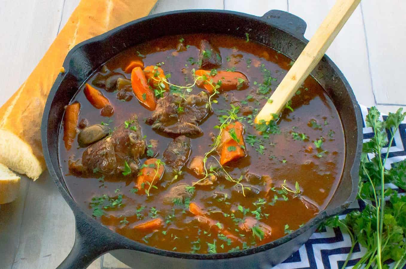 Red Wine Beef Stew With Mushrooms And Carrots Savor With Jennifer