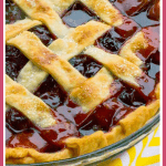 The Best Cherry Pie Recipe with Homemade Filling pinterest pin
