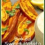 Oven Baked Sweet Potato Fries & Garlic Aioli pinterest pin
