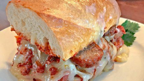 The Bomb Italian Sausage Sandwich