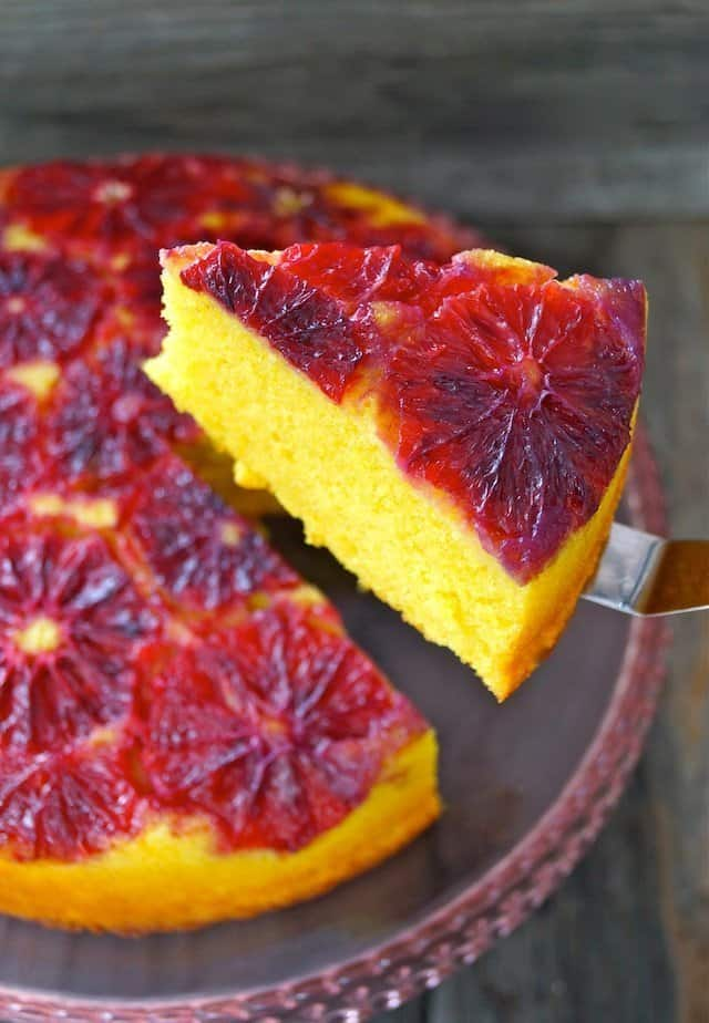 blood orange tumeric upside down pound cake