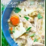 Slow Cooker Chicken and Dumplings from Scratch pinterst pin