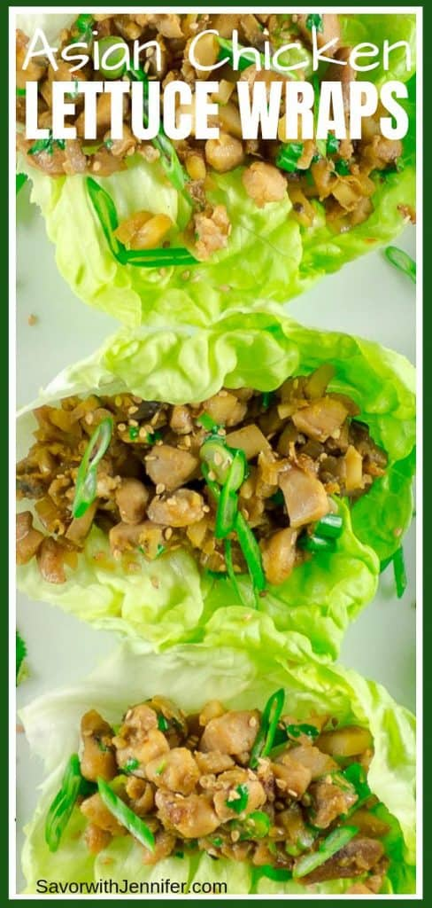 Asian Chicken Lettuce Wraps Pin