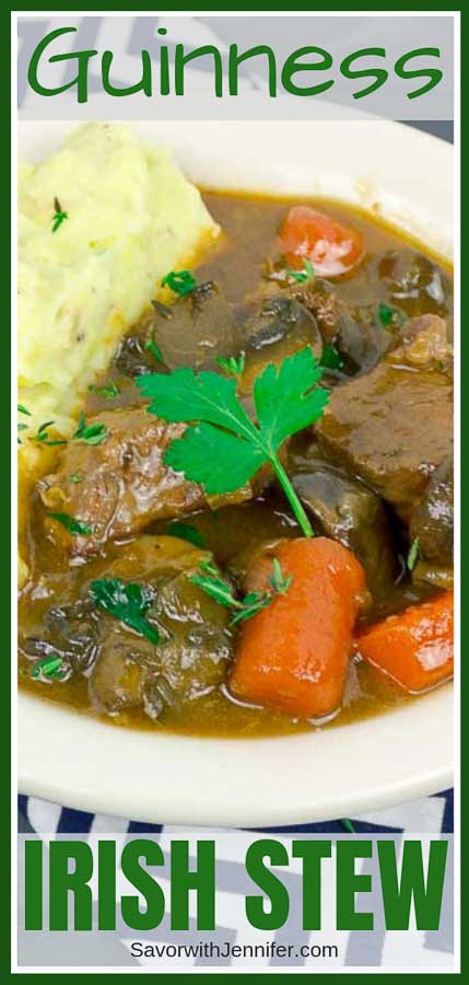 Beef and Guinness Stew Pinterest Pin