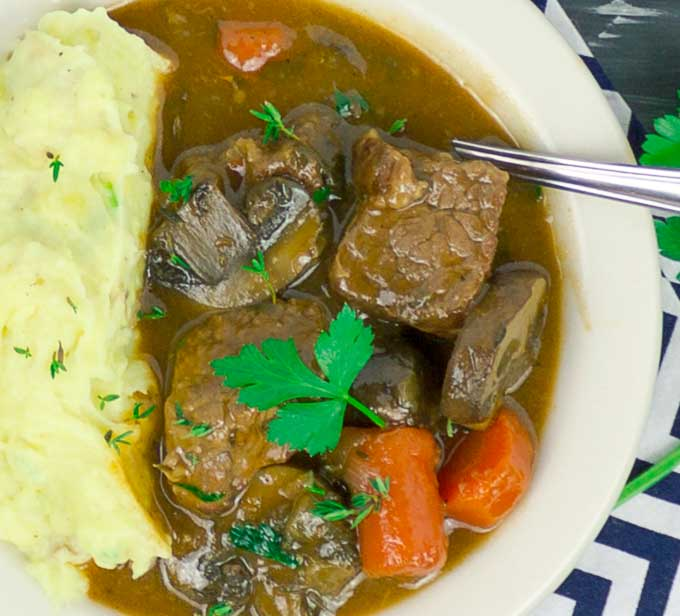 Beef and Guinness Stew with Guinness Beer Bread