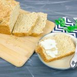 Guinness Beer Bread sliced on cutting board