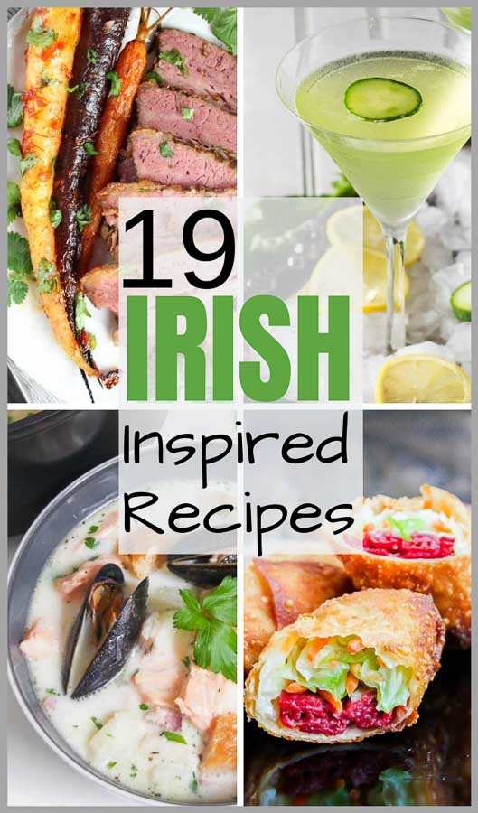 Irish Inspired Recipes Image Collage