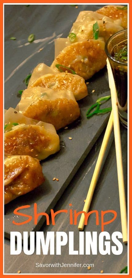Shrimp Dumpling Potstickers Pinterest Pin