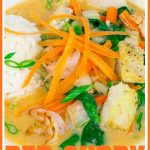 Thai Red Curry with Fish and Shrimp Pinterest Pin