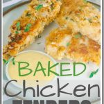Baked Buttermilk Chicken Strips Pinterest Pin Image