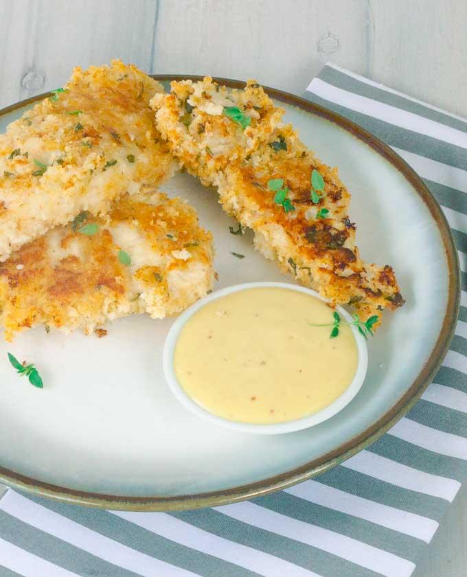 Healthy Buttermilk Baked Chicken Strips