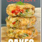 Baked Fresh Salmon Cakes pinterest pin image