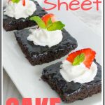 Old Fashioned Buttermilk Texas Sheet Cake pinterest pin image