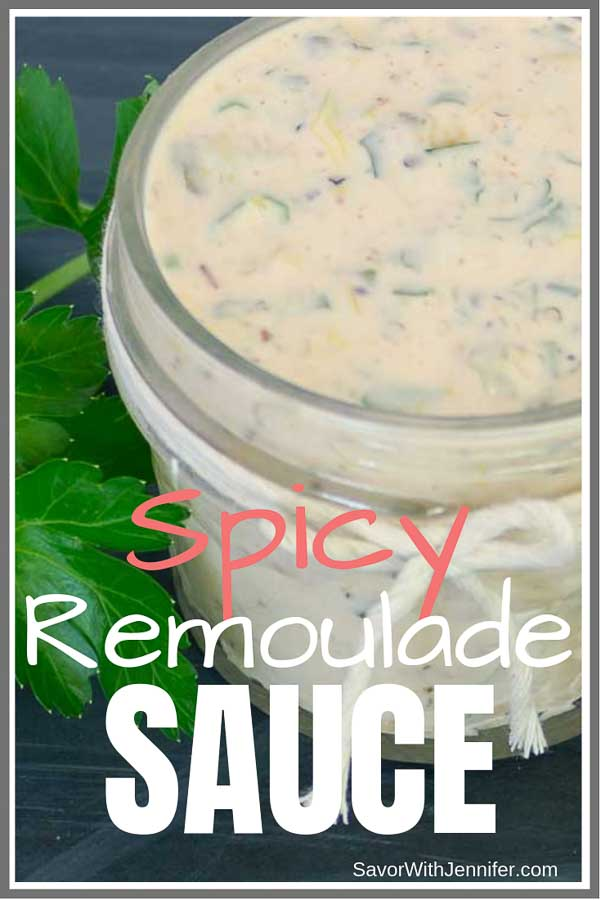 Spicy Remoulade Sauce pinterest pin image