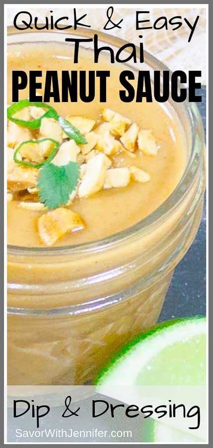 Thai Peanut Sauce Recipe Pinterest Pin Image