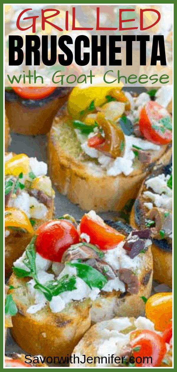 Grilled Goat Cheese Bruschetta Pinterest Pin