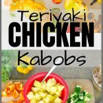 Grilled Pineapple Teriyaki Chicken Kabobs Pinterest Pin Image