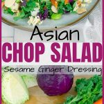 Asian Ramen Chop Salad with Sesame Ginger Dressing Pinterest Image