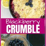 Cast Iron Skillet Blackberry Crumble Pinterest image