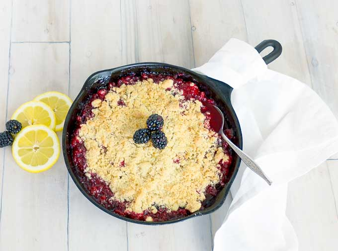 crumble with a white towel around the handle