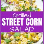 Grilled Street Corn Salad Pinterest Pin Image