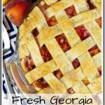 Fresh Peach Pie with Homemade Crust Pinterest Image