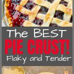 Homemade Flaky Pie Crust Recipe Pinterest Image