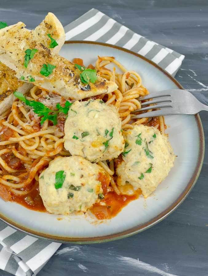 Baked Chicken Ricotta Meatballs Savor With Jennifer