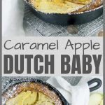 Caramel Apple Dutch Baby Pinterest Pin Image