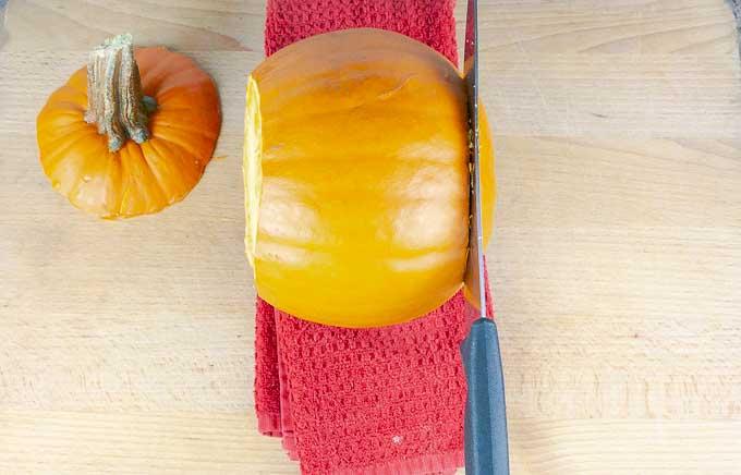 pumpkin wih top cut off