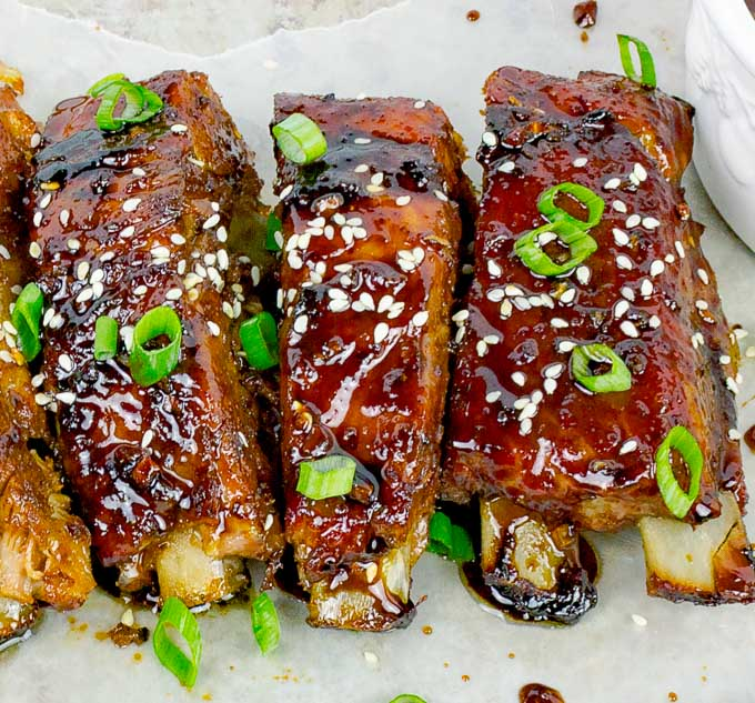 Sticky Asian Baked Pork Ribs Savor With Jennifer