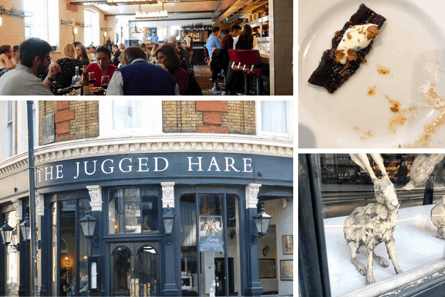 collage of the Jugged Hare restaurant