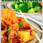 Sticky Orange Chicken Stir Fry Recipe Pinterest Pin