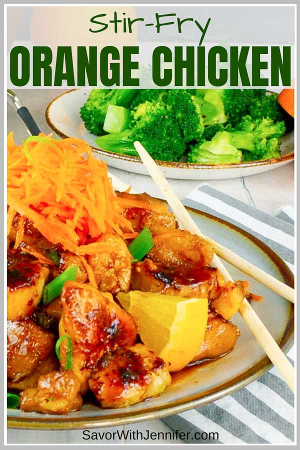 Sticky Orange Chicken Stir Fry Recipe Pinterest Pin