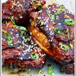 Pinterest Pin Image Grilled Asian Chicken Thighs