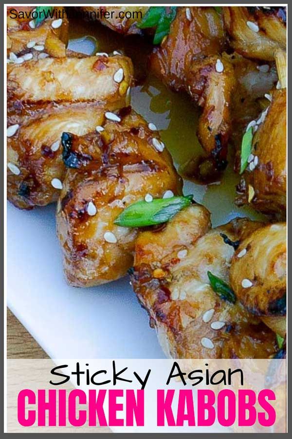 Grilled Asian Chicken Kabobs