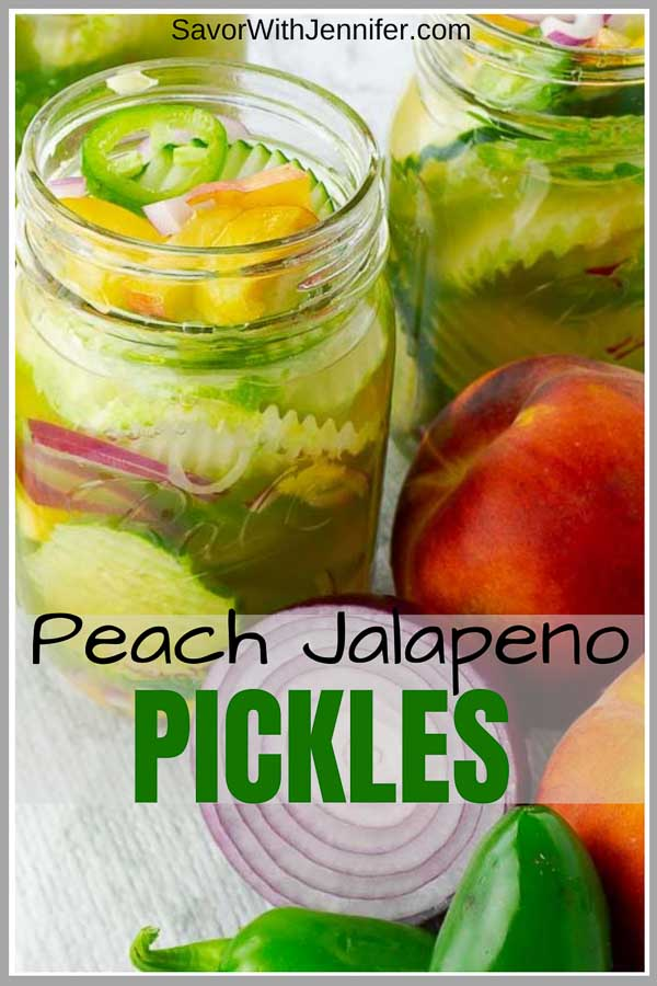 Sweet and Spicy Peach Jalapeno Pickles