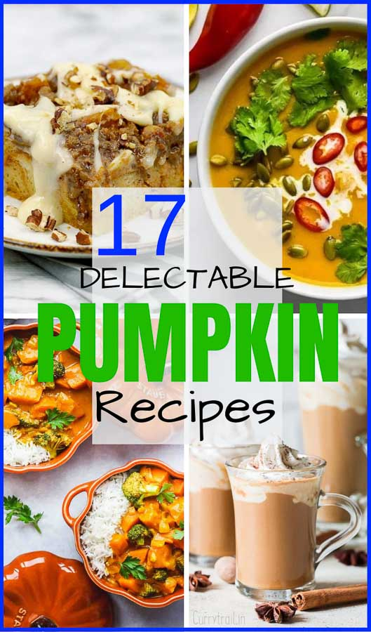 Pumpkin spice and everything nice! This collection has everything from savory to sweet, breakfast, dinner, AND dessert. Here are 17 of my FAVORITE Savory and Sweet Pumpkin Recipes from both myself and some of the most talented recipe creators out there! Pumpkin pancakes, curry, latte, pie, breadpudding, soup, roasted, and more! #savorwithjennifer #pumpkin #pumpkinrecipes #fallrecipes #thanksgiving