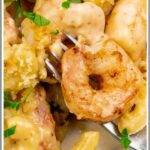 Baked Shrimp Macaroni and Cheese Pinterest Image