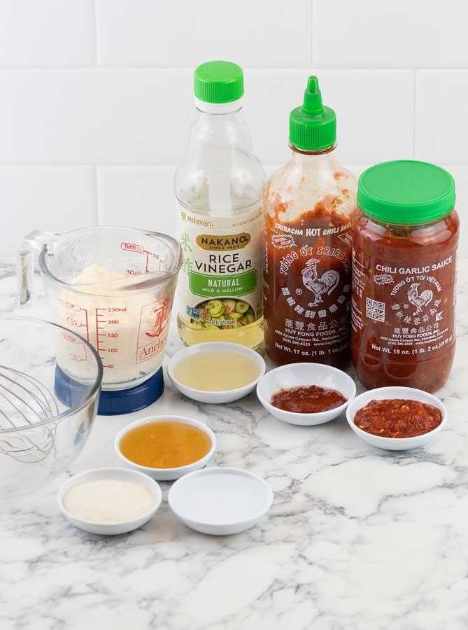 ingredients for bang bang sauce